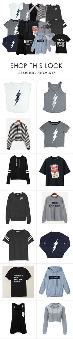 """""""tops"""" by nottaphanboii on Polyvore featuring Zadig & Voltaire, Chassè, Uniqlo, NIKE, rag & bone and Solid & Striped"""