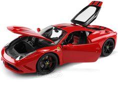 "Ferrari Speciale ""Signature Series"" 1:18 Scale - Bburago Diecast Model (Red/Black) #ferrari #scuderiaferrari #458 #458italia #488 #f12 #dino #enzo #enzoferrari #laferrari #italia #ferraricalifornia #308gto #599gto #speciale #supercar #hypercar #thegrandtour #diecast #118scale #124scalemodelcars"