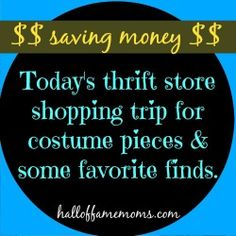My thrift store haul this week. #thrift #shopping #frugal http://www.halloffamemoms.com/2015/04/video-my-latest-thrift-shopping-trip-costume-pieces/