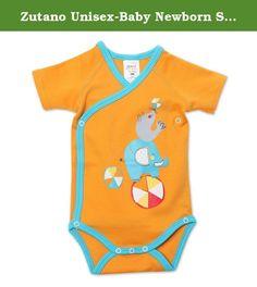 8e3d05463 Zutano Unisex-Baby Newborn Showtime Screen Short Sleeve Wrap, Orange, 3  Months.