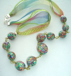 beads with ribbon | Carol BEal | Flickr