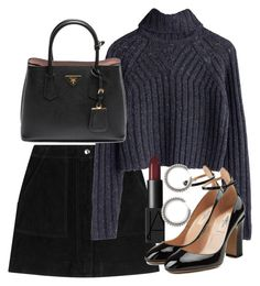 """""""Untitled #4649"""" by olivia-mr ❤ liked on Polyvore featuring rag & bone, Prada, NARS Cosmetics and Valentino"""