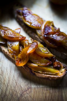 Oh my goodness these warm apples on toast with almond butter are our new obsession. Perfect Holiday morning breakfast!