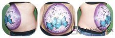 Belly Inma 3 D #bellypaint, #bodyart, #embarazo, #art, #pinturas corporales