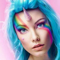 Maquillage d'Halloween : la licorne