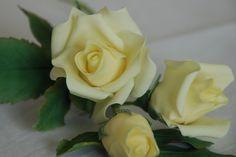 Sugar craft yellow roses