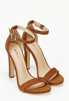 JustFab Kati Heeled Sandal Womens Brown Size 12 Just Fab Shoes 1fb9fd8b782c