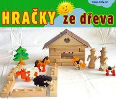 Didaktické stavebnice ze dřeva zoo
