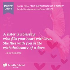 Rhyming Poetry Quote about Sisters