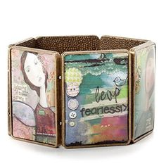 Kelly Rae Roberts Possibilitarian Large Tile Brass-Tone Stretch Bracelet by Demdaco by Kelly Rae Roberts -- Awesome products selected by Anna Churchill