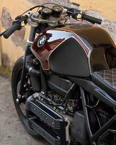 BMW K100 Cafe Racer ♣ #bmw #k100caferacer #luxury #beauty