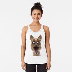 surprised dog face Surprised Dog, Basic Tank Top, Tank Tops, Face, Shark, Dogs, Women, Fashion, Moda