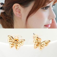 Do love cute and beautiful jewelry? Get these Butterfly Ear Studs for free, only pay shipping. These stud earrings are available in rose gold, gold and silver color variant. These earrings are perfect for butterfly lovers. Visit our website and get yours now.