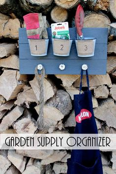Make this garden tool organizer to get organized outdoors or in the garage!