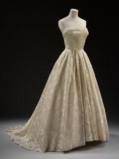 """Hubert de Givenchy """"Les Muguets"""" dress ca. 1955 via The Victoria & Albert Museum"""