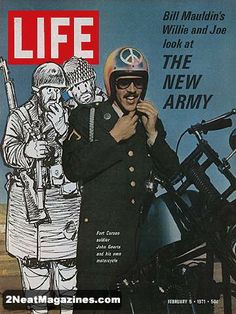 Life Magazine February 5, 1971 : Cover - World War II Cartoonist Bill Mauldin's Willie and Joe look at the New Army.