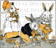 Bunny family.