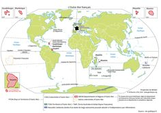 pour les 1ère et Tl STMG: la présence de la France dans le monde. planisphère outre mer SciencesPo