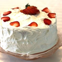Pudding like strawberry cake with a decadent white chocolate frosting. Strawberry Cake From Scratch, Strawberry Cakes, Strawberry Recipes, Cupcake Recipes, Cupcake Cakes, Dessert Recipes, Cupcake Ideas, White Chocolate Frosting, Rich Cake