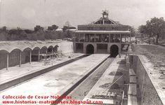 Construcción de la estación  de metro de El Lago.