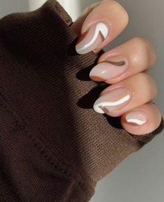 Nagellack Design, Nagellack Trends, Best Acrylic Nails, Acrylic Nail Designs, Brown Nail Designs, Simple Nail Designs, Acrylic Art, Dope Nail Designs, Natural Nail Designs