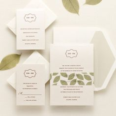 Lavish Leaves Wedding Invitations | Floral Wedding Invitations