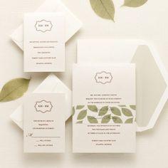 Lavish Leaves Wedding Invitations   Floral Wedding Invitations