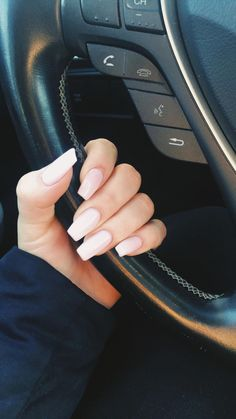 Maybe you have discovered your nails lack of some trendy nail art? Yes, lately, many girls personalize their nails with lovely … Cute Acrylic Nails, Cute Nails, Pretty Nails, Aycrlic Nails, Hair And Nails, Nagel Gel, Nails On Fleek, Natural Nails, Nails Inspiration