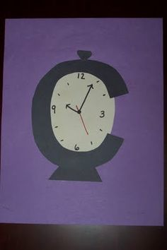 little c clock letter craft