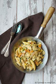 Rezept von : Experimente aus meiner Küche: Vegetarische Schupfnudelpfanne