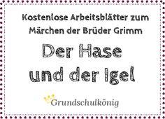 """Kostenlose Arbeitsblätter zum Märchen """"Der Hase und der Igel"""" von den Brüdern Grimm: Lesetext, Leseprobe #Deutsch #Grundschule #Märchen #Lesetest #Lesen"""