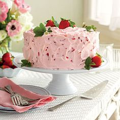 Strawberry-Lemonade Layer Cake | MyRecipes.com