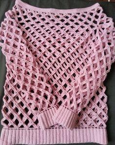 Malla red fantasía tejida en crochet , molde del punto , secuencia visual del paso a paso y video tutorial