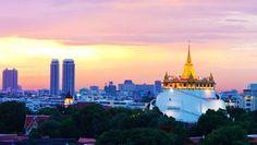 Wat Saket, le temple de la Montagne d'Or - Voyager en Thailande