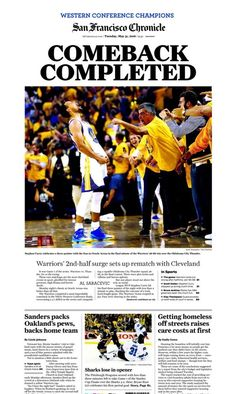 Golden State Warriors FINALS 2016 San Francisco Chronicle Newspaper! 5 31  Mint! f1c9dae1c