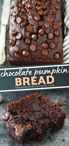 This recipe is a fall favorite! You are going to love this Chocolate Pumpkin Quick Bread. The spices add warmth to this rich, decadent, delicious treat and will keep you coming back for more. Bake a loaf to enjoy for breakfast, brunch, or dessert! Pin this for later! Bread Recipes, Baking Recipes, Dessert Recipes, Dessert Bread, Chocolate Pumpkin Bread, Chocolate Desserts, Delicious Breakfast Recipes, Delicious Desserts, Pumpkin Recipes