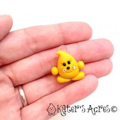 Parker© Polymer Clay Flat Back Charm on Jump Ring by KatersAcres