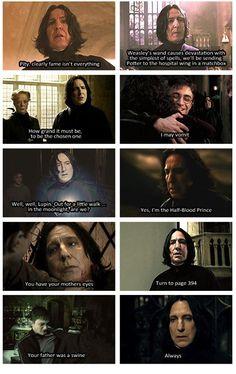 scenes Snape owned Severus Snape Quotes, Harry Potter Severus Snape, Alan Rickman Severus Snape, Severus Rogue, Harry Potter Feels, Harry Potter Jokes, Harry Potter Pictures, Harry Potter Universal, Harry Potter Fandom