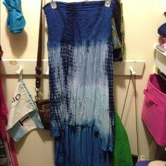 Hi-lo dress Tie dye hi-lo strapless dress size medium Dresses High Low