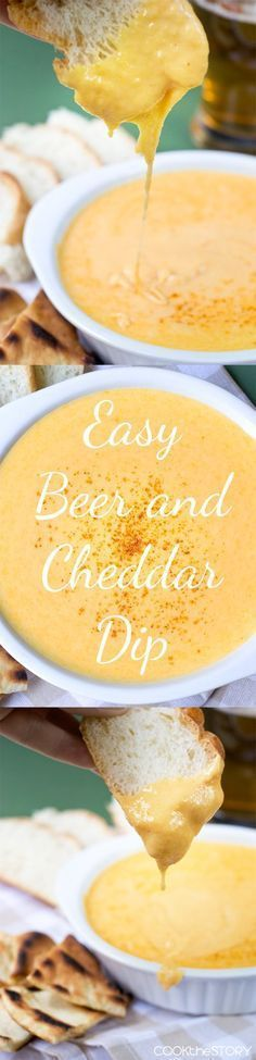 Super quick and easy to make! Beer and Cheese Dip. Mmmmm