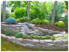 Rustic Flower Beds With Rocks In Front Of House Ideas 44
