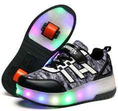 2016 Children Heelys Led Light Kids Fashion Sneakers With Two/One Wheels Ultra-Light Skate Roller Shoes Boys Girls Shoes 30-40