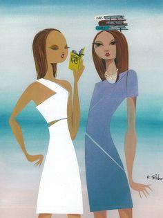 #fashionillustration by Ruben Toledo for the 2009 #NightofStars