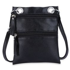 Guapabien Fashion Solid Women Leather Handbags Brief Sling Satchels Mini Messenger Shoulder Bags Small Two Zipper Crossbody Bag