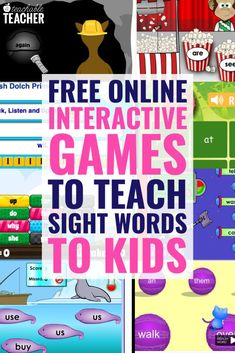 Sight words and high frequency words are an important part of teaching new readers. I love using these online games to teach sight words in my classroom. Here is a list of 10 online games to teach sight words to your kids.