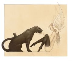 black_panter_white_wings-michael-parkes