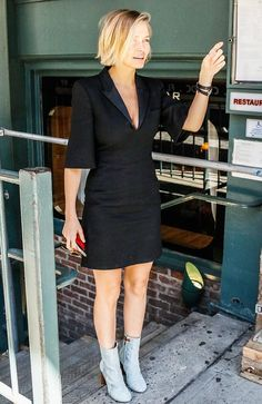 Lara Bingle Out in the City in Little Black Dress