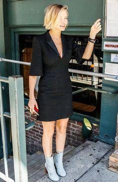 Lara Bingle Out in the City in Little Black Dress