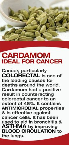 Cancer, particularly colorectal is one of the leading causes for deaths around the world. Cardamom had a positive result in counteracting colorectal cancer to an extent of 48%. It contains antimicrobial properties & is effective against cancer cells. Also it has been used to aid in bronchitis & asthma by improving blood circulation to the lungs. #healthtips
