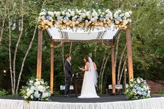 Chuppah frame and florals done by our amazing event and design team here at Holliday Events! Photo credit to: Rob + Deanna photography
